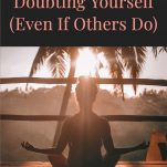 woman meditating to conquer self doubt