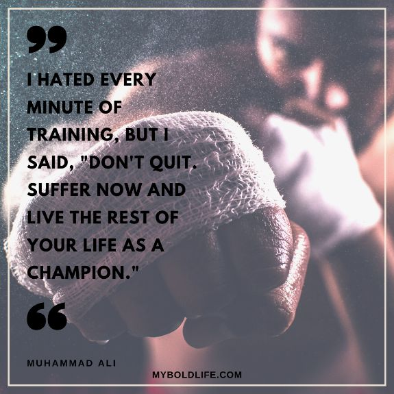 Muhammad Ali quote with wrestler in background