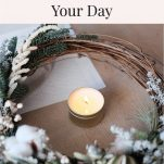 wreath surrounding candle