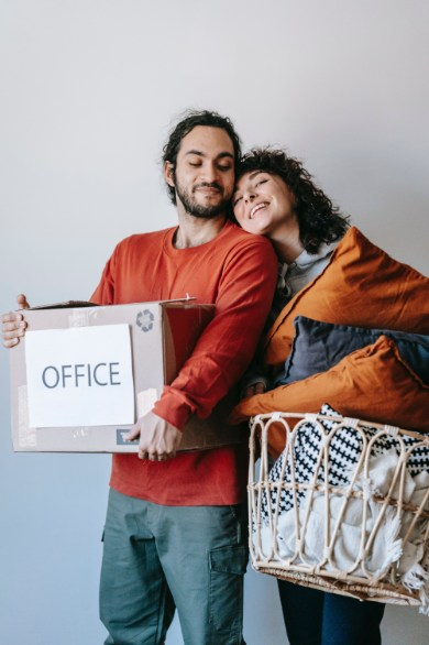 couple with relationship skills unpacking